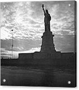Statue Of Liberty At Sunset Acrylic Print