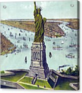 Statue Of Liberty. The Great Bartholdi Acrylic Print by Everett