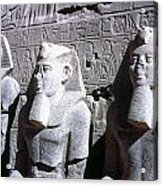 Statues Of Ramses II Acrylic Print by Granger