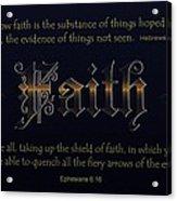 Steadfast Faith Acrylic Print by Greg Long