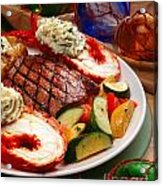 Steak And Lobster Acrylic Print