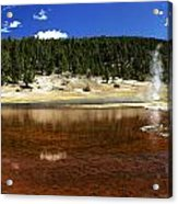 Steam At Firehole Lake Acrylic Print