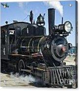 Steam Engine And Sailboats Acrylic Print