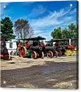 Steam Engines Lined Up Acrylic Print