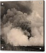 Steam In Sepia Acrylic Print