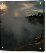 Steam Rising From Hot Springs  Acrylic Print