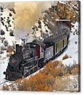 Steam Scene In The Snow Acrylic Print