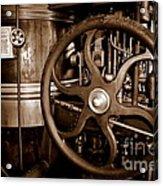 Steam Wheel Acrylic Print