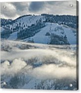 Steamboat Ski Area In Clouds Acrylic Print