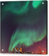 Steamboat Under Northern Lights Acrylic Print