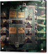 Steampunk - Naval - Electric - Lighting Control Panel Acrylic Print