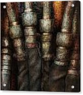 Steampunk - Pipes Acrylic Print by Mike Savad