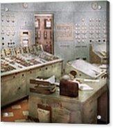 Steampunk - Retro - The Power Station Acrylic Print