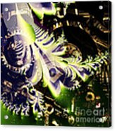 Steampunk Abstract Fractal . Square . S2 Acrylic Print
