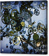 Steampunk Gears - Time Destroyed Acrylic Print
