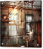Steampunk - Machinist - The Grinding Station Acrylic Print