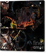 Steampunk Time Piece . Figure 56893f . Instructions For Setting To Daylight Savings Time Acrylic Print