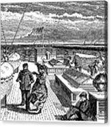 Steamships: Deck, 1870 Acrylic Print