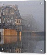 Steel Bridge In Morning Fog Acrylic Print