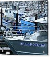 Steelhead And Fishing Boats Acrylic Print