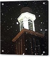 Steeple In The Snow Acrylic Print