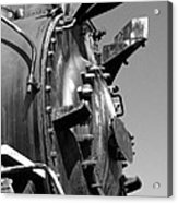 Steme Engine Front Black And White Acrylic Print