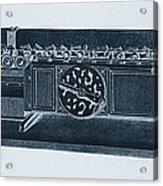 Step Reckoner, Leibniz Mechanical Acrylic Print