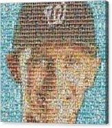Stephen Strasburg Card Mosaic Acrylic Print