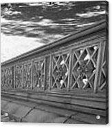 Steps Of Central Park In Black And White Acrylic Print