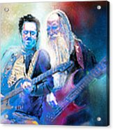 Steve Lukather And Leland Sklar From Toto 02 Acrylic Print