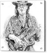 Stevie's Blues Acrylic Print by David Lloyd Glover