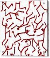 Stickmen Characters Nine Eleven Two K Ten Acrylic Print