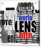 Still Camera From Words Acrylic Print