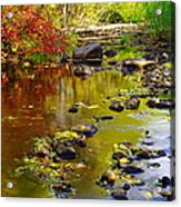 Still Golden Waters Acrylic Print