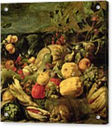 Still Life Of Fruits And Vegetables Acrylic Print