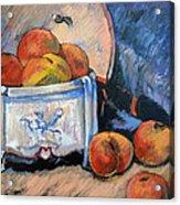 Still Life Peaches Acrylic Print