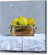 Still Life With Copper And Lemons Acrylic Print