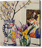 Still Life With Flowers In A Vase   Acrylic Print