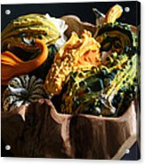 Still Life With Gourds Acrylic Print