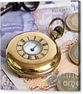Still Life With Pocket Watch, Key Acrylic Print by Photo Researchers
