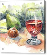 Still Life With Red Wine Glass Acrylic Print