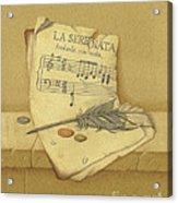 Still Life With Sheet Music Acrylic Print