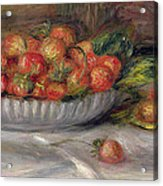 Still Life With Strawberries Acrylic Print