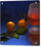 Still Life With Tangerins Acrylic Print by Vladimir Kholostykh