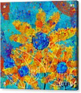 Stimuli Floral S01 Acrylic Print by Variance Collections