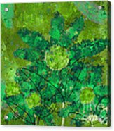Stimuli Floral -s11bt01 Acrylic Print by Variance Collections