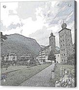 Stockalper Castle Acrylic Print