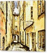 Stockholm Old City Acrylic Print by Yury Malkov