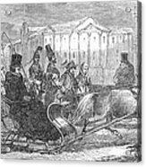 Stockholm: Sleighing, 1850 Acrylic Print