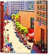 Stockton Street San Francisco . View Towards Union Square Acrylic Print by Wingsdomain Art and Photography